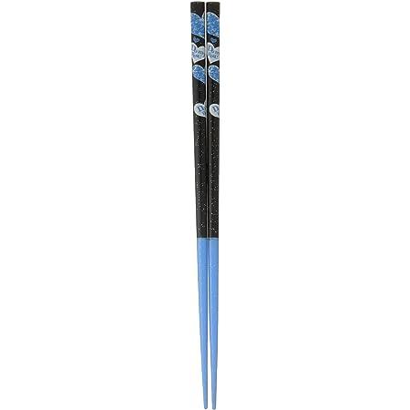 田中箸店 若狭塗箸 ダイエット応援箸 ハートブルー(食洗対応)22.5cm