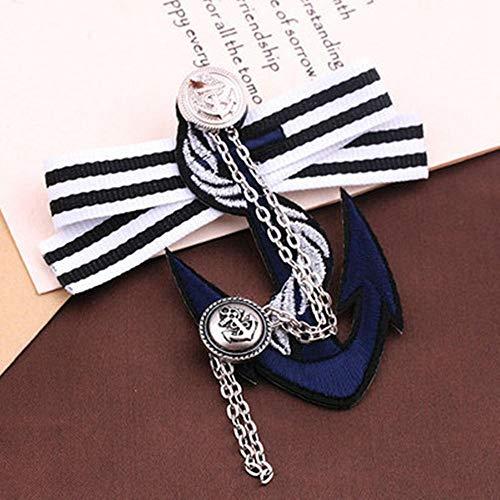 ZWLZQ Broschen Brosche Plated Trendy Anchor Lovers 'Boutonniere Damen Navy Wind Badge Herren College Anzug Pins Schmuck