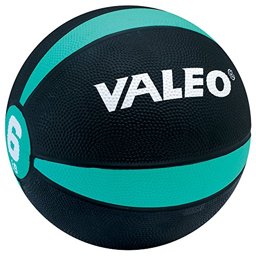 Valeo 6 Lb. Medicine Ball, Green, 8-1/2' Diameter