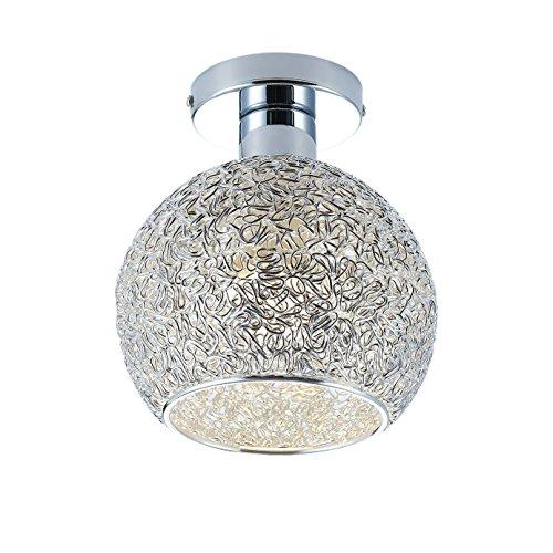 DAXGD lámpara de aluminio de techo Mini plafón para el vestidor, el corredor y el salón, Diamètre du plafonnier: 15cm