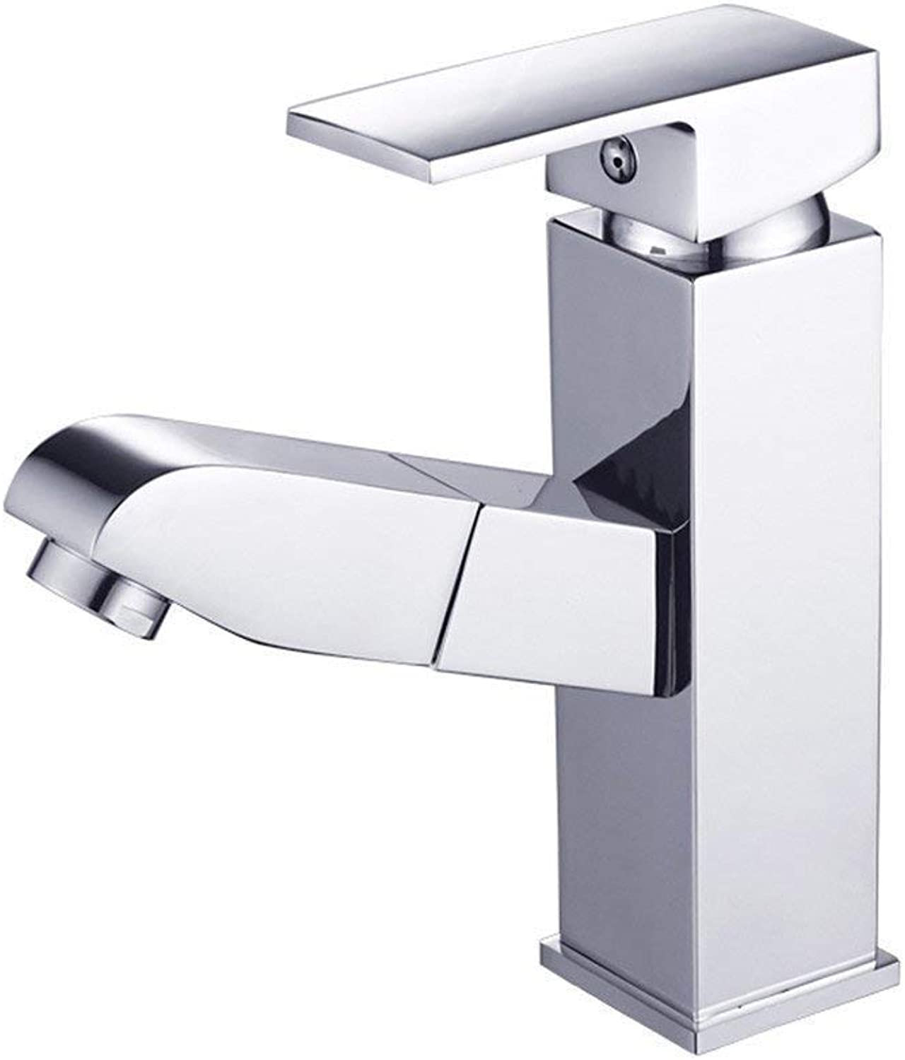 Oudan Pull Faucet Hot and Cold All Copper Washbasin Pull Faucet Single Hole Washbasin Telescopic Faucet Ceramic Valve Core Plating (color   -, Size   -)
