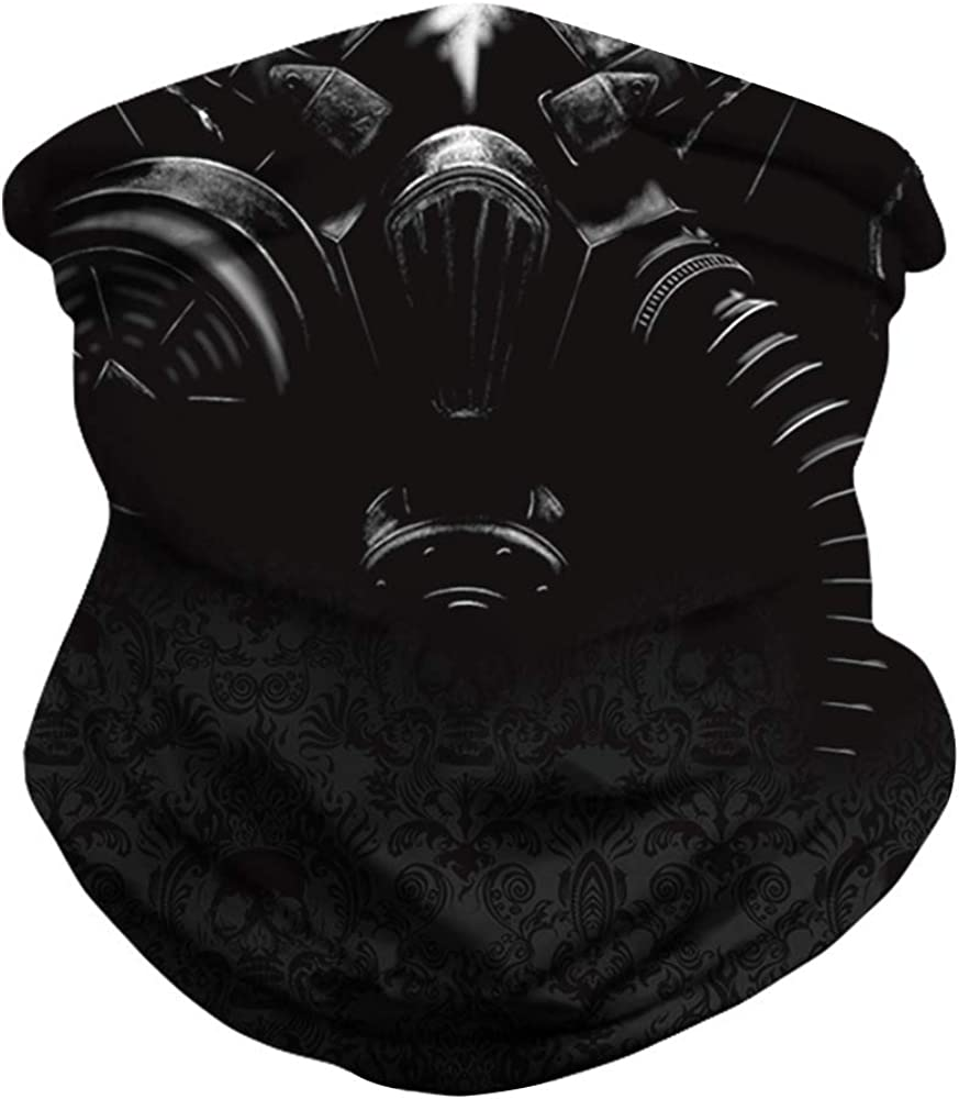 N-A Pirate Neck Gaiter Skull Balaclava Face Mark from Tube Bandana Balaclava Covered Coronae Virtues Protection