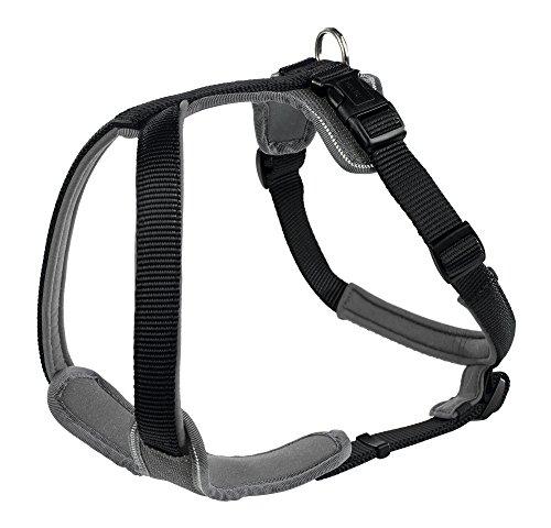 HUNTER NEOPREN Hundegeschirr, Nylon, gepolstert mit Neopren, für Sport und Freizeit, schwarz/grau, Nylon, Neopren, L (73-94)