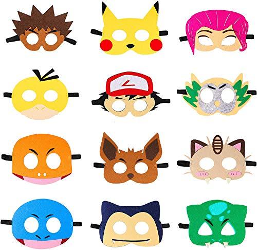 BeYumi 12pcs Kostüm Masken Spielzeug Party Masken 12 Stück Kinder Cosplay Masken Cosplay Party Masken Geburtstag Augen Masken passen für Maskerade