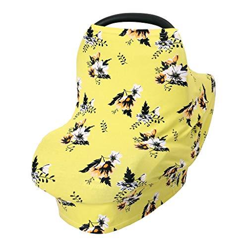 Manyo - Capota para cochecito 4 en 1 universal, elástica, protección solar, mosquitera, antipolvo, parasoles (amarillo)