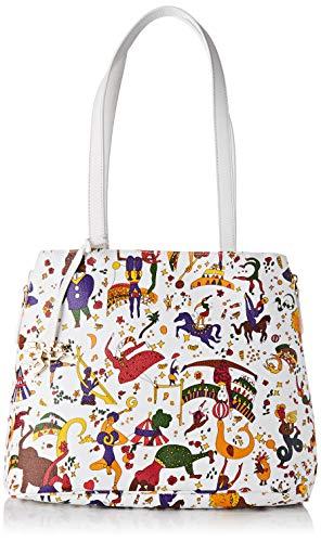 piero guidi Shopping Bag, Borsa a Spalla Donna, Bianco (Neve), 32x25,5x14 cm (W x H x L)
