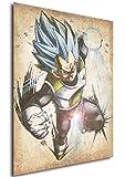 Instabuy Poster Dragon Ball Wanted Vegeta SSB - A3 (42x30