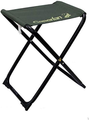 LifeX Chaise de pêche en acier portative en acier portative se pliante de tabouret vert foncé pliant extérieur Camping pliant l'étape escabeau voyage pliant le siège se pliant de polyester enduit de b