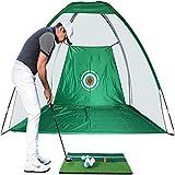 ZZBB Tapis De Golf Intérieur 2 M Pratique De Golf Net Tente Golf Frappant Cage Jardin Prairie Pratique Tente équipement De Formation De Golf Maille Extérieure,Green