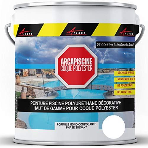 Peinture piscine coques polyester carrelage polyuréthane décorative
