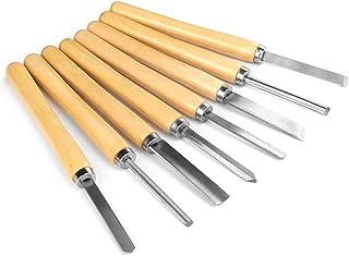 madera cincel de acero de alta velocidad y casquillos de lat/ón Cinceles de tallado a mano SENRISE juego de herramientas de madera para tallar