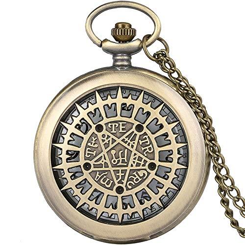 IOMLOP Reloj de bolsilloReloj de Bolsillo de Cuarzo para Hombres y Mujeres, Collar Retro, Cadena Colgante, Regalos de cumpleaños para Hombres, Mujeres, Amigos