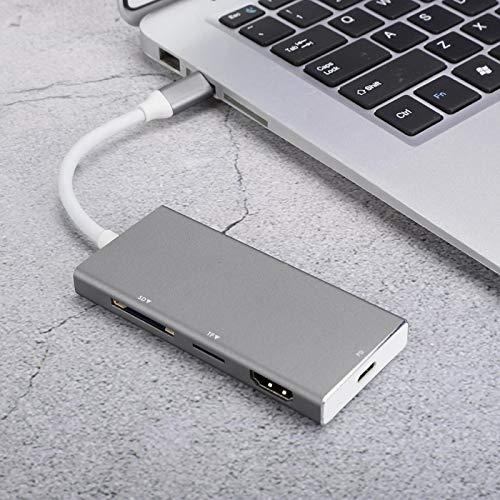 Type C HUB DC5V HUB Adapter Converter Wear-resistant Stable 7 In 1 Type-C Hub Type- C Adapter for Computer for Mobile Phone