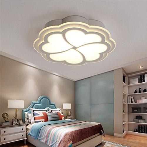 BRIGHTLLT Moderne minimaliste romantique chaleureuse chambres plafond led light heart-shaped Love 4 feuilles prix s'allume ; 400mm enfants pétales