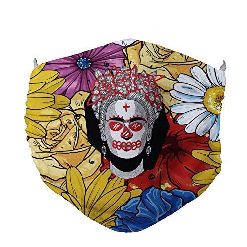 FISHIKII | Mascarilla Frida - Poliéster 80% - Licra 20% - Todas Las Temporadas 2020 - Unisex | AMARILLO | ÚNICA
