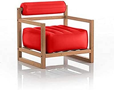 Mojow - Poltrona Yoko, 70 x 62 x 70 cm, colore: Rosso opaco