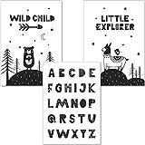 artpin® Set ABC Poster Alphabet Lernposter - Kinderzimmer