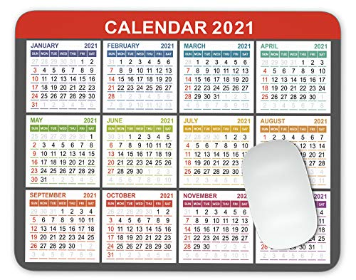 Calendar 2021, Seasons of Different Colo Mouse Pad Office Mouse Pad Gaming Mouse Pad Mat Mouse Pad