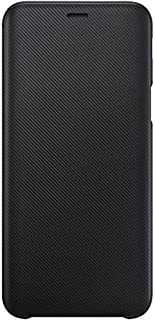 Samsung Original EF-WJ600CBEGWW J6 Case Wallet Folio Cover - Black