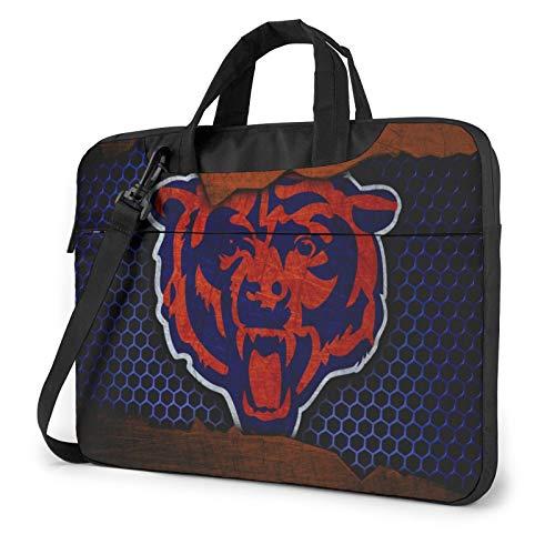 Stockdale Chicago Bears Large Capacity 15.6 inch Inch Laptop Sleeve Waterproof and Shockproof Computer Shoulder Bag