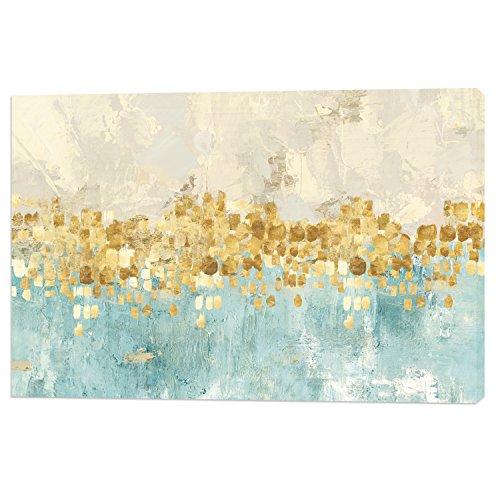 Fajerminart Leinwand Drucken Moderne Bild Wandkunst - Goldene Abstrakte Malerei Leinwand Gemälde Wand Kunst Dekor Geeignet Wohnzimmer, Schlafzimmer, Auf Rahmengröße Stretch 60x90cm (Holzrahmen)