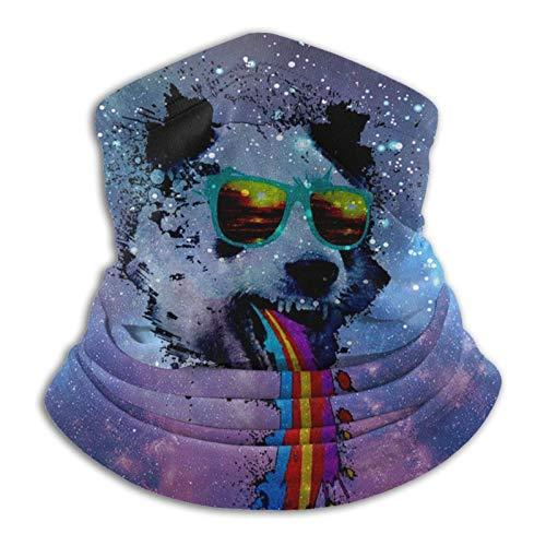 pengyong Space Panda Rainbow - Pasamontañas para el cuello, diseño de arco iris