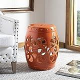 Safavieh Imperial Vine Ceramic Decorative Garden Stool, Orange...