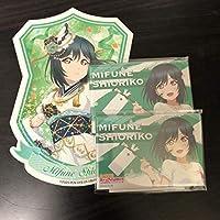 ラブライブ 虹ヶ咲 アトレ 三船栞子 スクエア缶バッジ 2つ ブロマイド