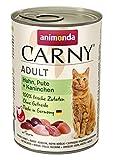 animonda Carny Carny Adult Katzenfutter, Nassfutter für ausgewachsene Katzen, Huhn, Pute + Kaninchen, 6 x 400 g