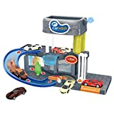 Yuege City Car Wash Connectable Play Set with Diecast and Mini Toy Car Ultimate Car Wash Playset Automatic Lift Car Wash Set Toy with Color Changing Alloy Cars for Kids