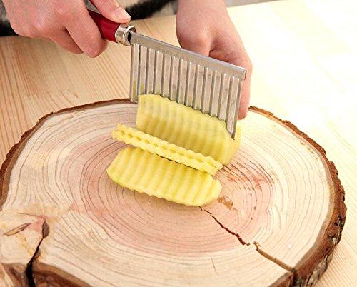 gudhi Creative gewellt geformt Kartoffel futtervorrat geschnitten Blume Werkzeug _ Rot