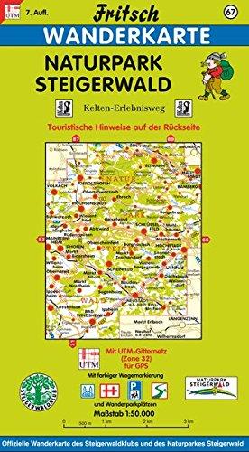 Fritsch Karten, Nr.67, Naturpark Steigerwald (Fritsch Wanderkarten 1:50000)