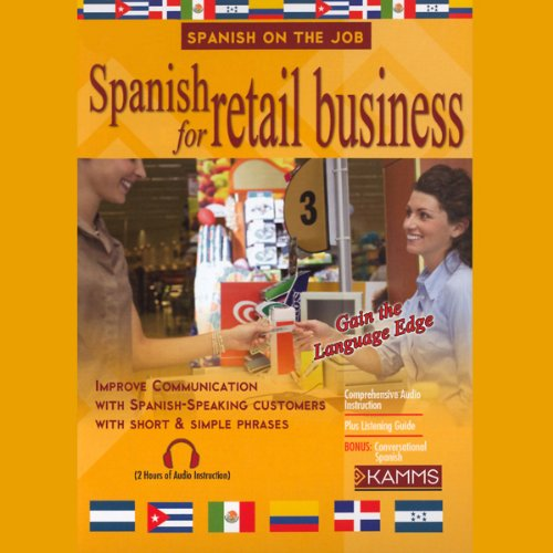 Spanish for Retail Business audiobook cover art