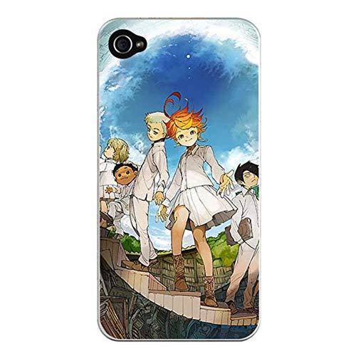 LSGXX The Promised Neverland Funda para iPhone Emma Goods Cristal Templado Resistente a los Impactos iPhone Anime Japonés Funda para Teléfono (7 Plus/8 Plus,A)