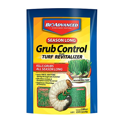 BioAdvanced 700715M Season Long Grub Control Plus Turf Revitalizer Kills Grubs & Ticks, 12-Pounds, Granules