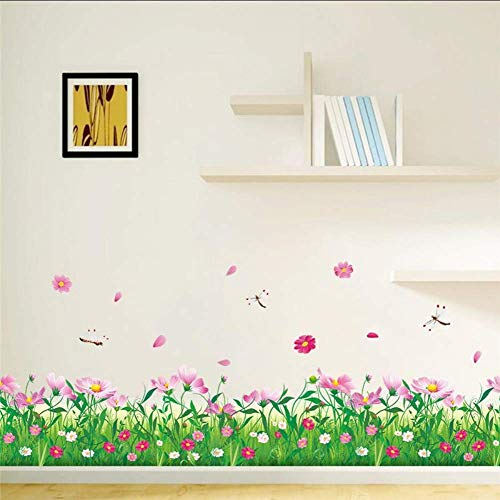Blumen Zäune Baseboard Wandtattoos Home Dekorative Aufkleber 3D Tatoo Diy Raum Wandkunst