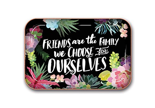 Studio Oh! Medium Metal Catchall Tray Available in 12 Different Designs, Mia Charro Friends are the Family We Choose