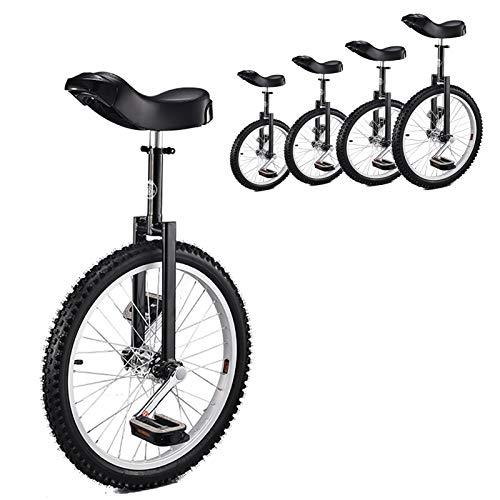 TTRY&ZHANG Unichicle for Kids 20 Pulgadas Negro, Adultos/Principiantes/Masculino Adolescente 24/18 / 16 Pulgadas Unicycles, Edad 12-17 años, Fun Balance Balance Ciclismo, (Size : 20INCH)