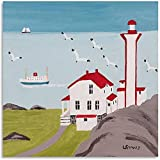 YWCMDH Lienzos Decorativos Galería de Poster artísticos de Maud Lewis Pintura Decorativa Lienzo Poster artísticos de Pared Pintura40x60cm x1 Sin Marco