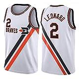 ZHS Camiseta de baloncesto Kawhi Leonard # 2 Los Angeles Clippers para hombre, camiseta de baloncesto bordada de malla, camiseta sin mangas (S-XXL) F-L