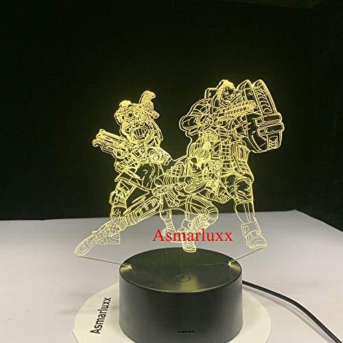 Legende 3D LED-Lampe Wechselbare Stimmungslampe LED 7 Farben USB-Dekor Illusion Nachtlicht Home Dekorativ als Spiel Spielzeug Kinder Geschenk