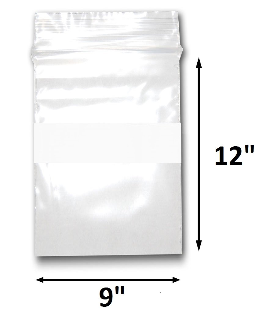 200 Bags of 1.5 x 1.5 2 Mil Clear Plastic Reclosable Zip Poly Bags with Resealable Lock Seal Zipper