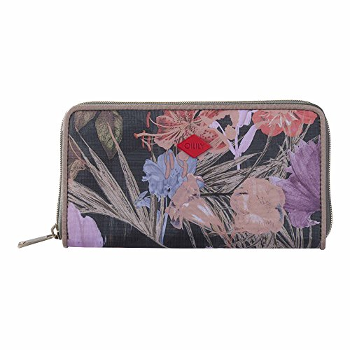 Oilily Flower Field L Zip Wallet Fig