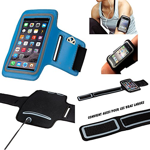 MP-ES Sony XZ1 Compact Brazalete Deportivo de Neopreno para teléfono móvil (teléfono Inteligente) Footing Hiking Running Scratch Ajustable - Actividad Deportiva - Azul