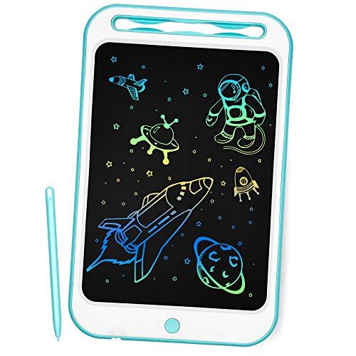 Richgv 10 Pollici Tavoletta Grafica Digitale Scrittura, Elettronico Colorato Ewriter LCD Writing Tablet Disegno Pad con Memoria di Blocco per Bambini della Casa Scuola Ufficio (Blu)