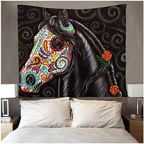 QIAO Caballo con tapices de Cabello Humano Tapiz para Dormitorio Sala de Estar Dormitorio Habitaci¨n 150X200CM
