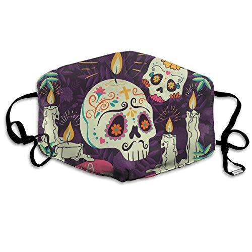 Stofdicht wasbaar masker, Mexicaanse feestdag van de doden leest Dia DE Muertos, zacht, ademend, wasbaar, knop verstelbare masker, geschikt voor mannen en vrouwen maskers