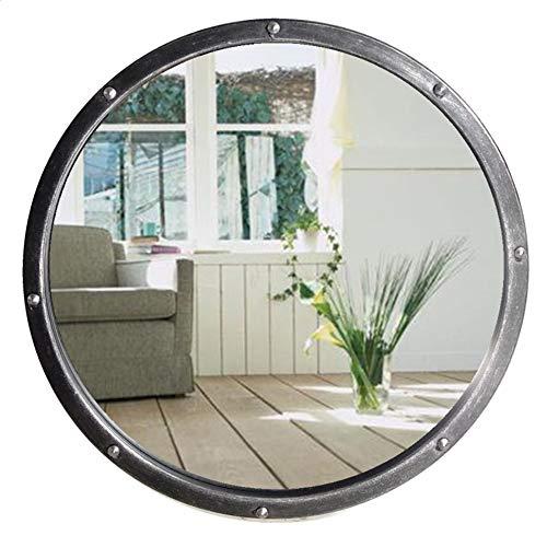 Espejo de baño Espejo de Viento Industrial de Hierro, Barra