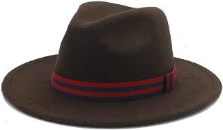 SHENTIANWEI Men Women Winter Fedora Hat Wide Brim Church Fascinator Hat Casual Wild Hat Panama Hat Size 56-58CM