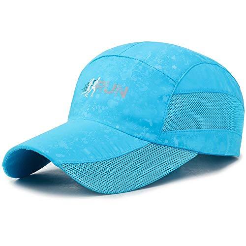 KNJF Soporte de Flores Outdoor Sport Summer Sun Hat 5 Colores Unisex Vintage Malla de Camionero Sombrero Estante de exhibición del Titular del jardín (Color : Blue, Size : Free Size)